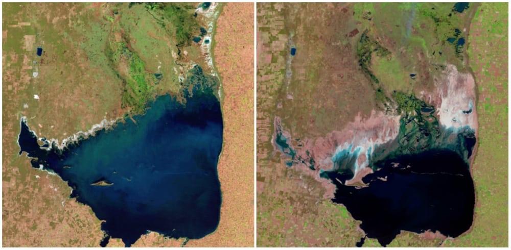 Le lac Mar Chiquita, Argentine. Juillet 1998. - septembre 2011 - 21 Trends